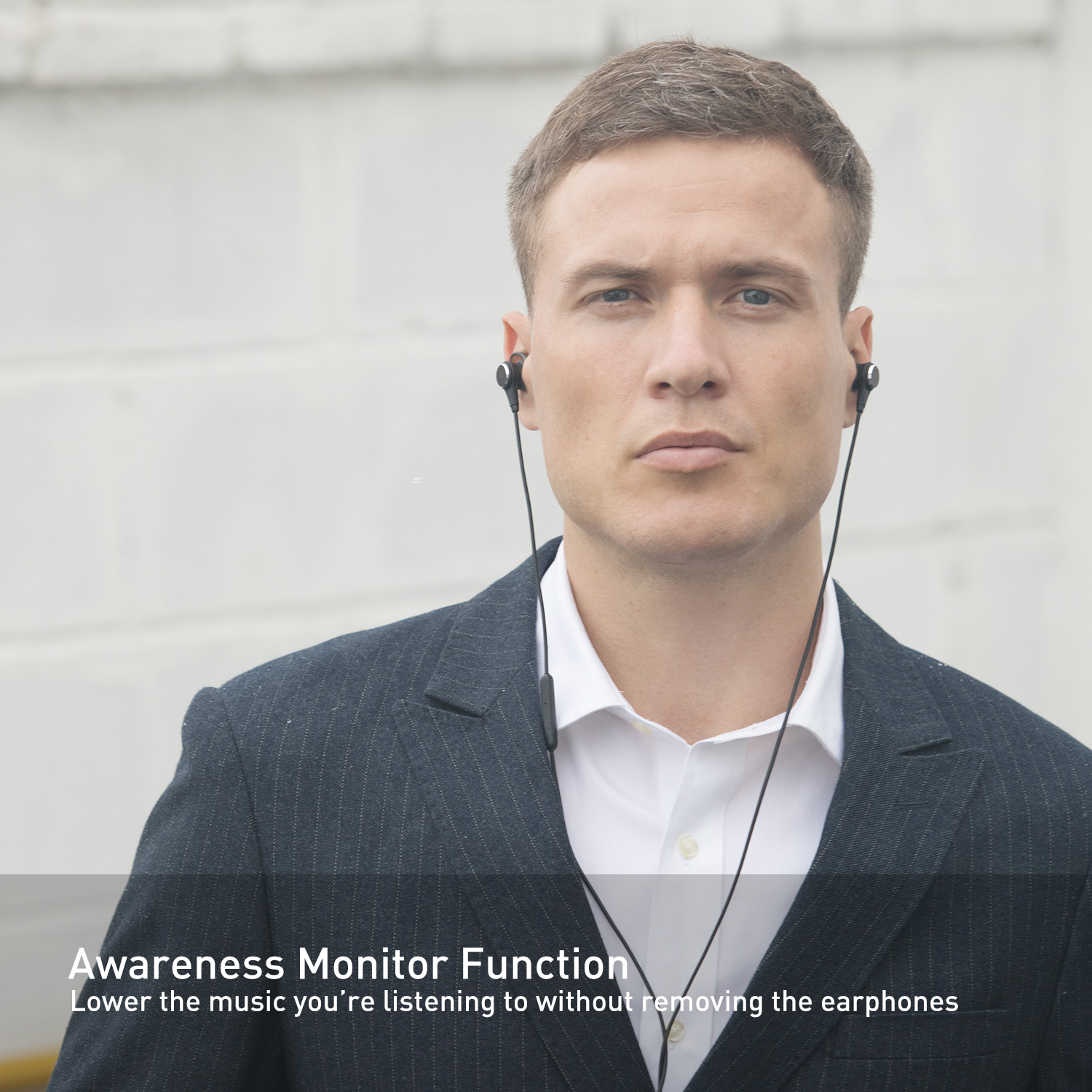 Monitoring Function - Let you clearly hear airline or subway announcements and what's around you without having to removing earbuds.