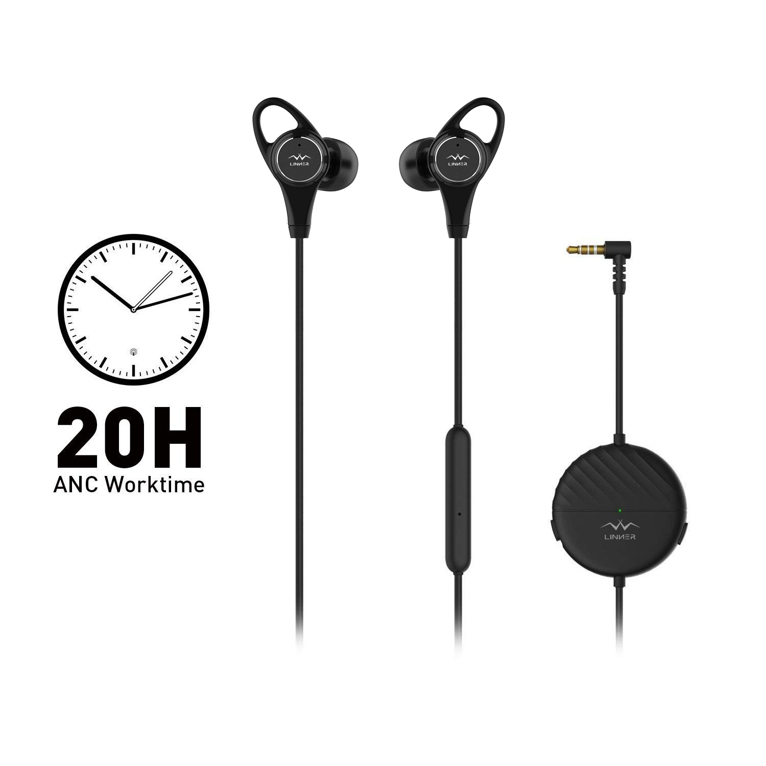 Long battery life - Enhanced battery life, enjoy 20 hours of continuous music playback or voice chat with ANC on per 2 hours of charge.