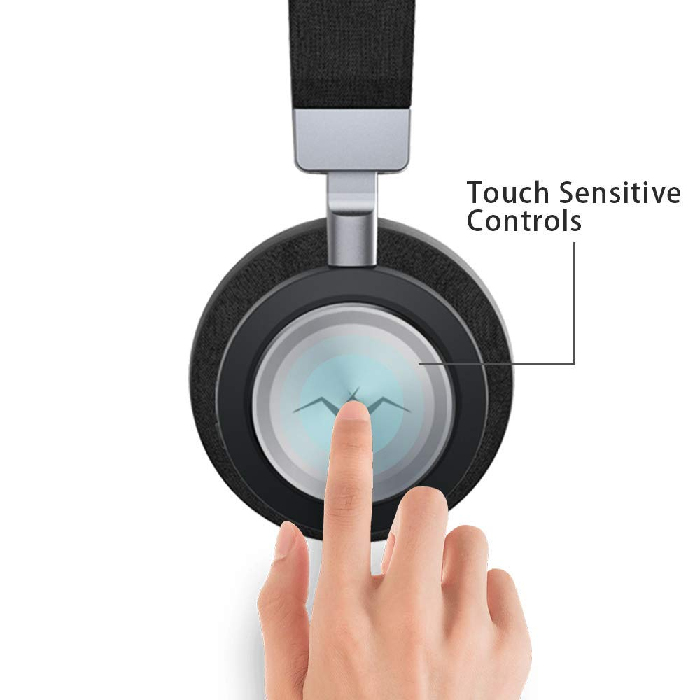 Smart Touch Controls - The wireless headset includes a touch control panel on the right ear cup: just double tap on the panel to play or pause the music/call, and place your hand on it to activate the monitor function.