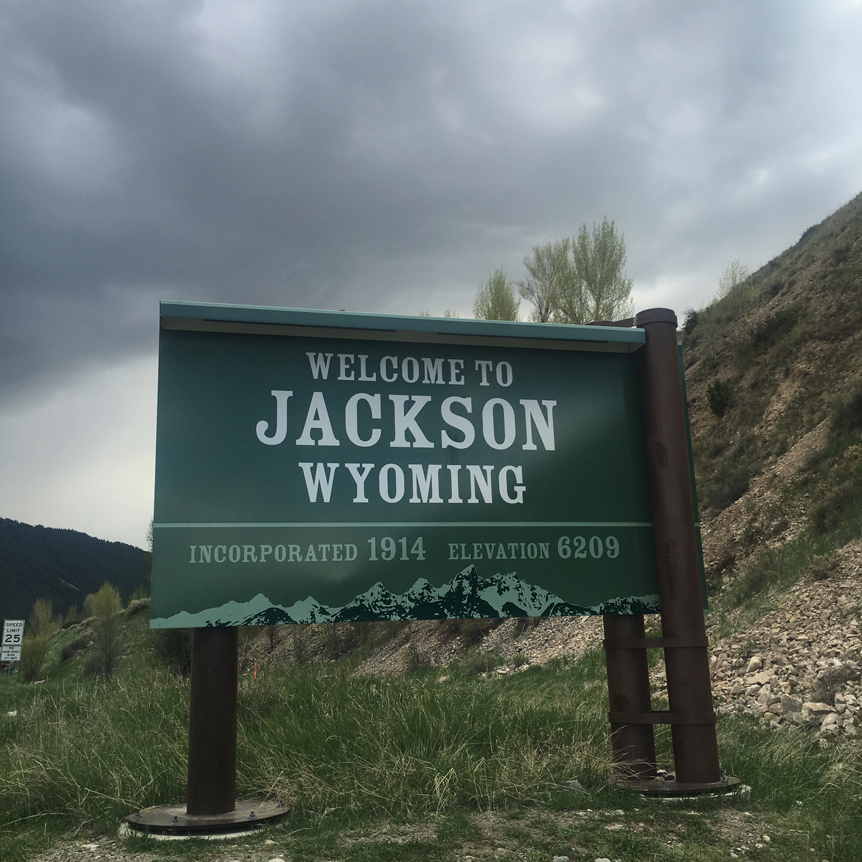 Welcome to Jackson, Wyoming Sign