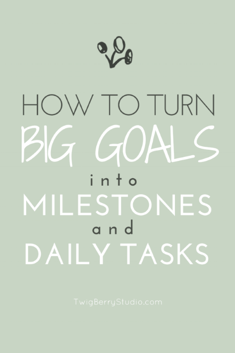 blog how to break down your big goals and turn them into milestones and daily tasks
