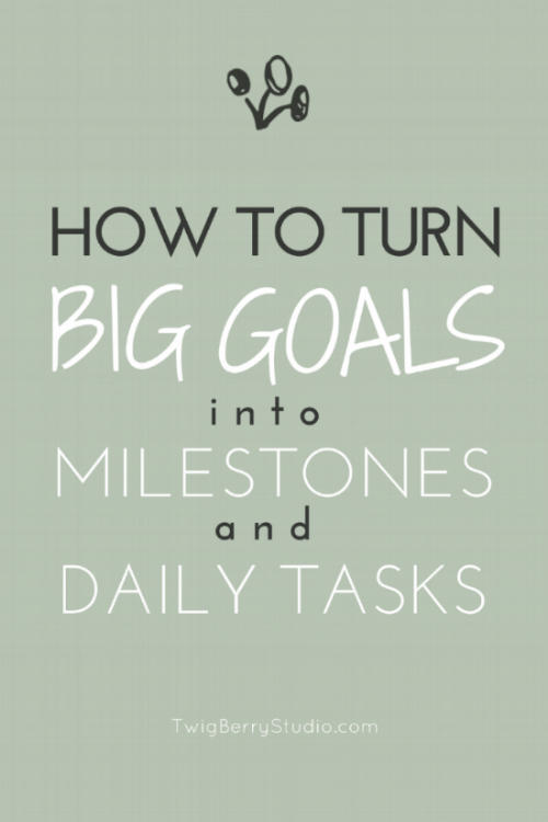 how to break down your goals into milestones and daily tasks