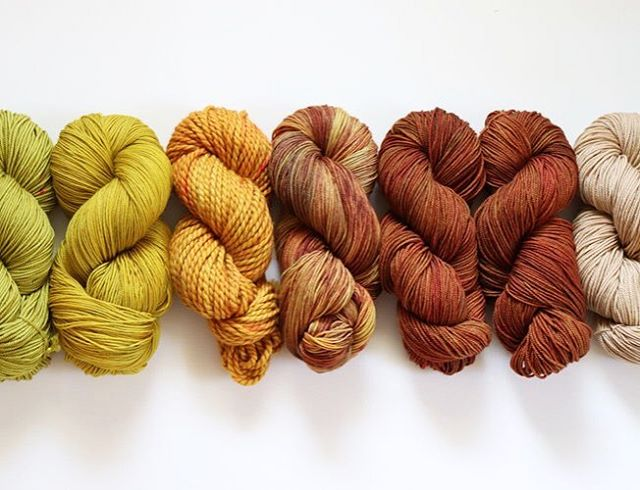 Happy first day of September, makers!! 🍃 🍂 I'm super giddy about these squishy skeins. I've been working on dying yarn since the early spring, so it's sooo exciting to finally be sharing these with you all! 💕 For those of you who can't get enough yarn in your life, I have a shop update and a *yarn giveaway* coming next week! Dropping the deets on Monday! Keep your eyes peeled. 👀🤗 🍃 🍂 What are you most excited for this fall? And what Autumn colorways are you dying to see?