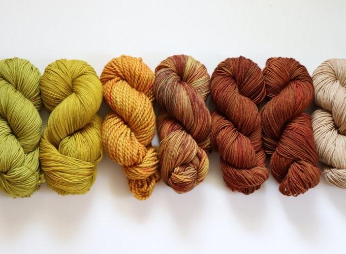 hand dyed yarn TwigBerryStudio