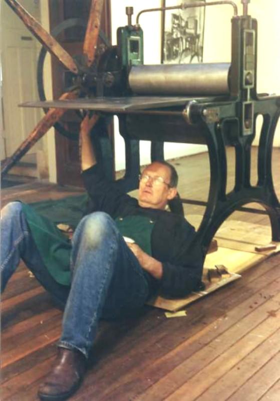 Restoring Rose Lindsay's press at Springwood