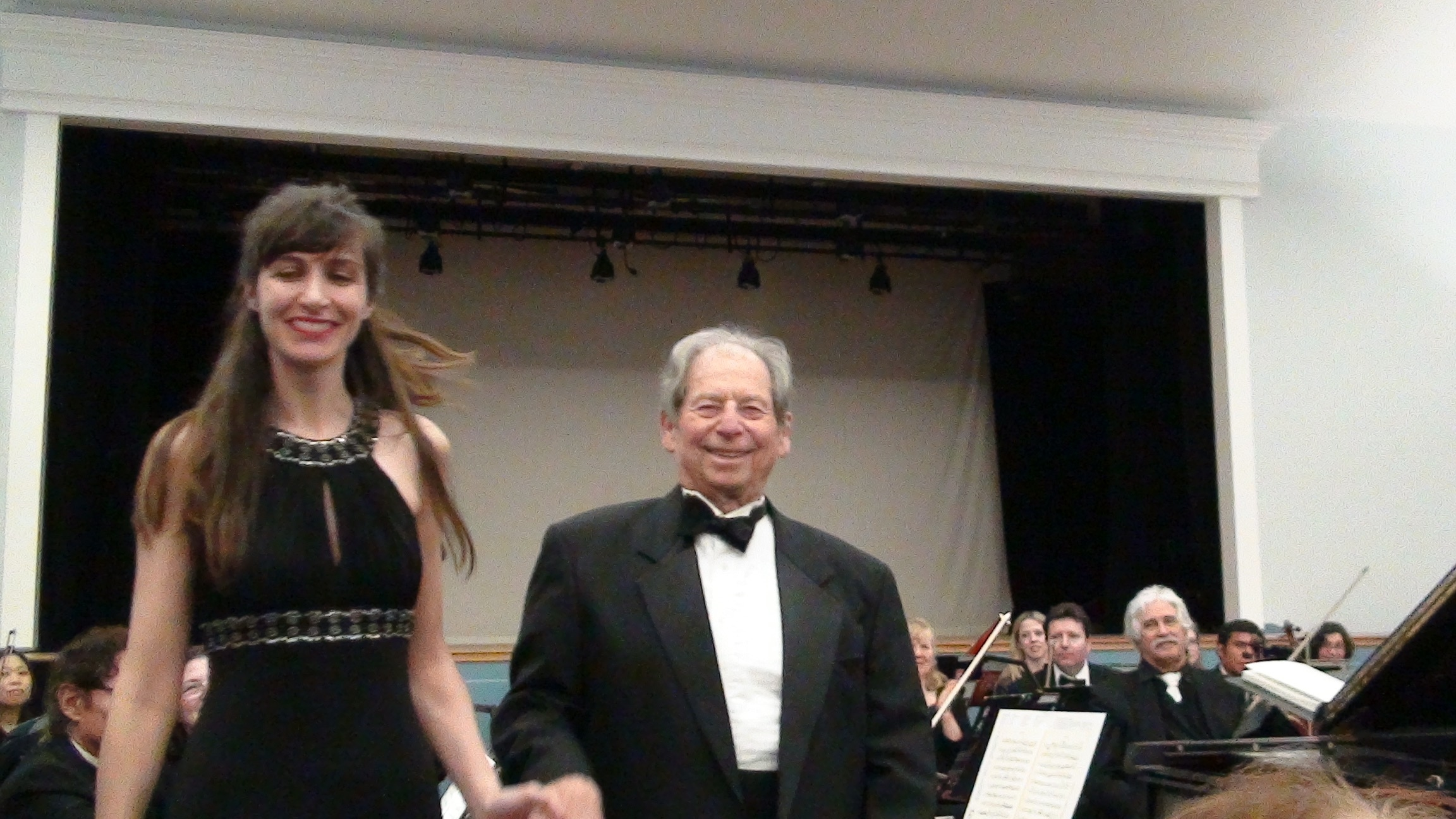With conductor Joel B. Lish after Beethoven Piano Concerto N 5