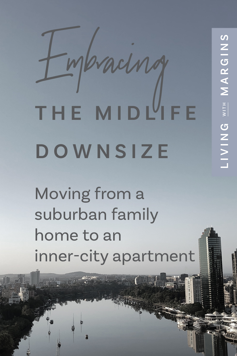 We moved from our suburban family home to an apartment in the city, and it's like living in a vacation. #midlife #apartmentliving #downsize #seasons
