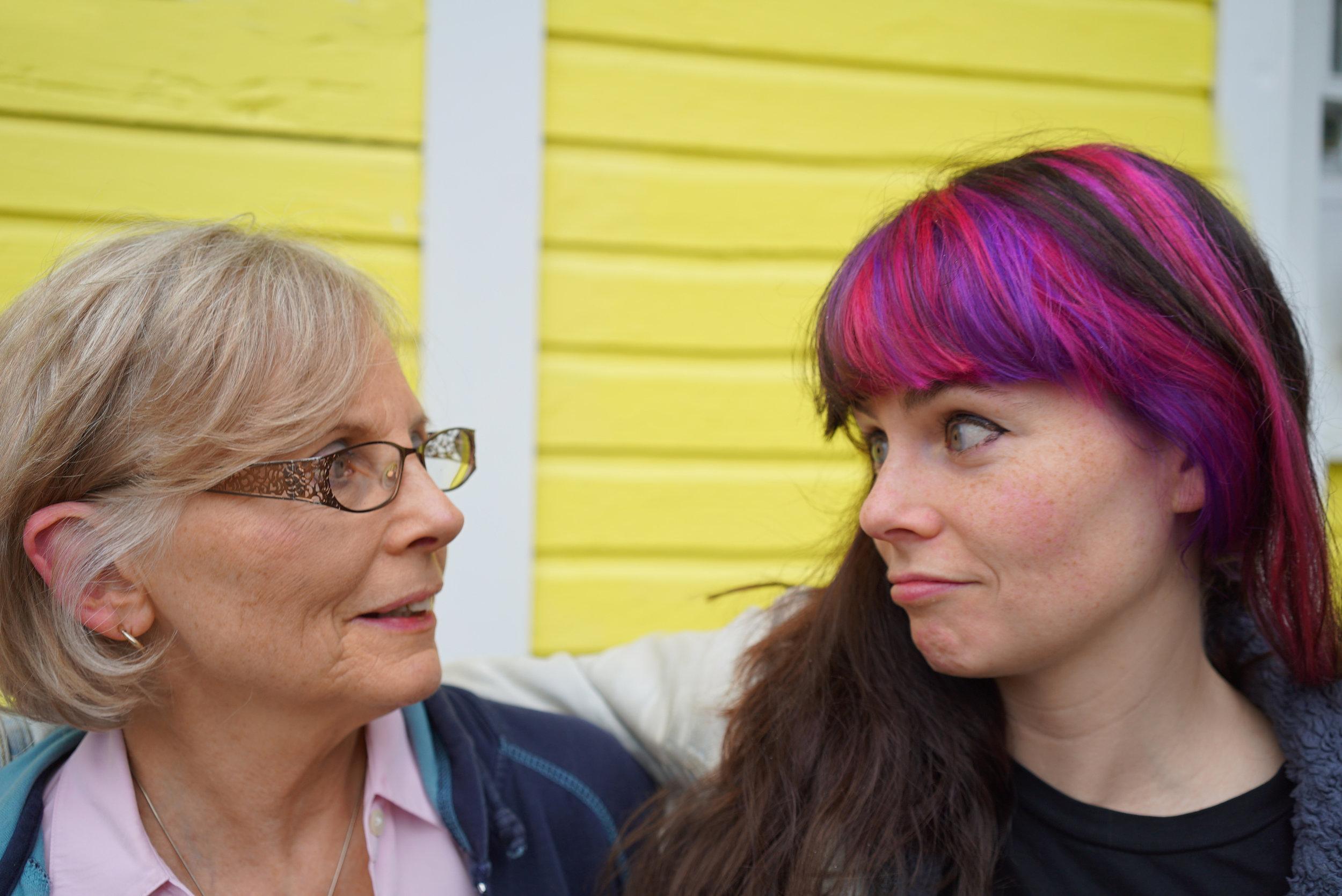 Momma B & Rebecca giving the looks.