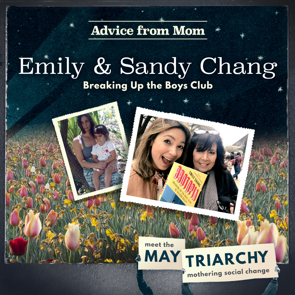Emily Chang with her mom, Sandy: now and then!