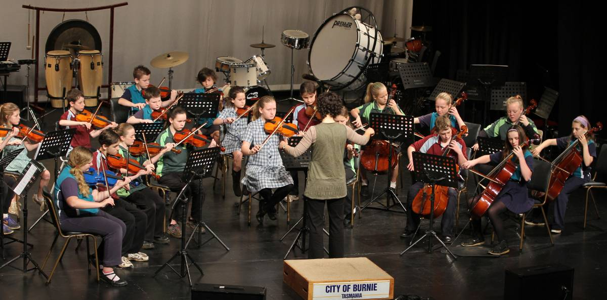 Stringalong at the Burnie Eisteddfod  Photo: The Advocate