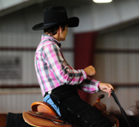 Reining lead change position