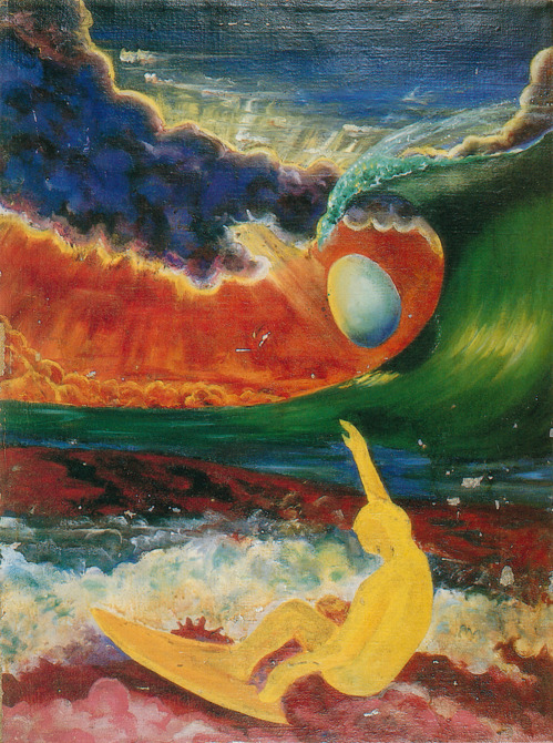 Unknow artist , Yellow Surfer and Egg in Curl
