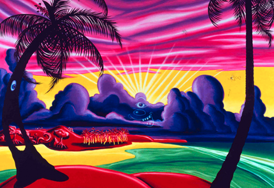 Kenny Scharf, Dawn In Paradise