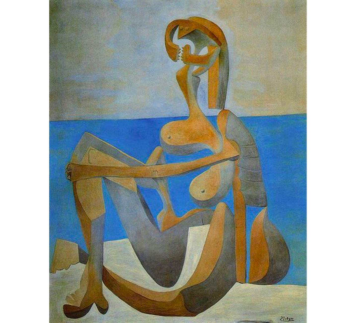 Picasso,  Seated bather on the beach