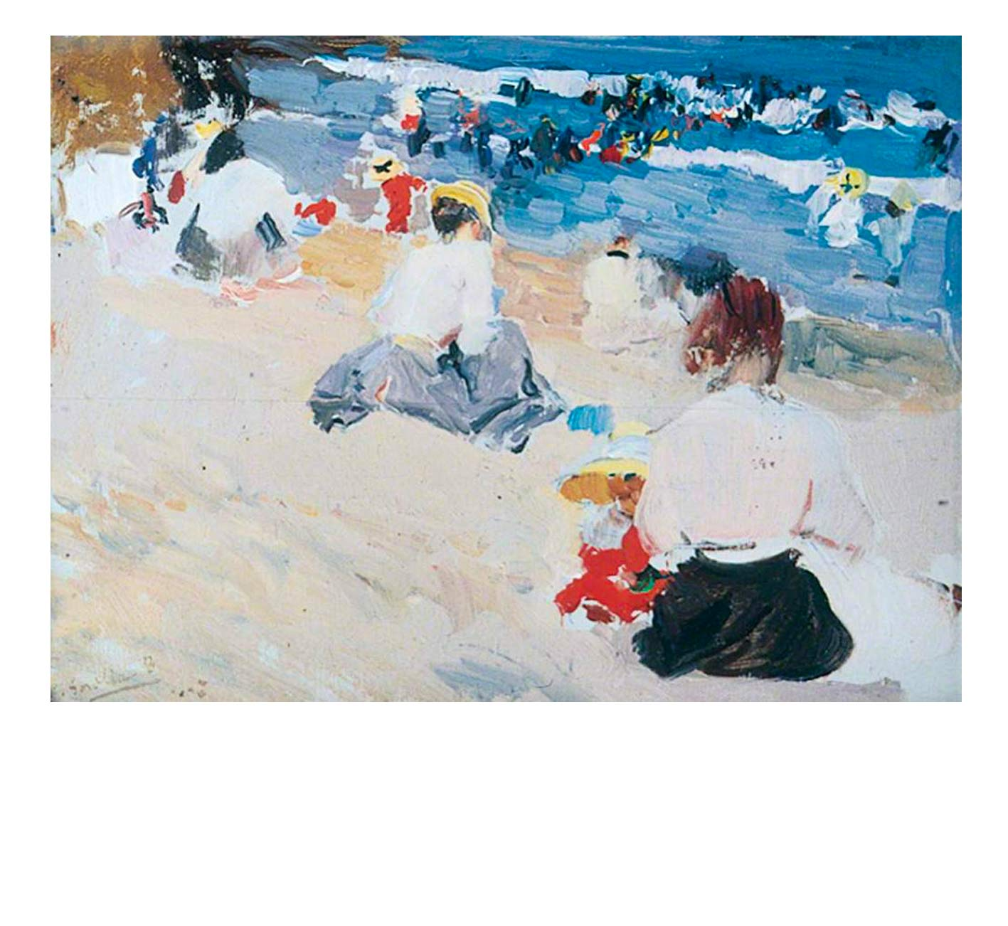 Joaquin Sorolla ,  Ladies on the beach , 1906