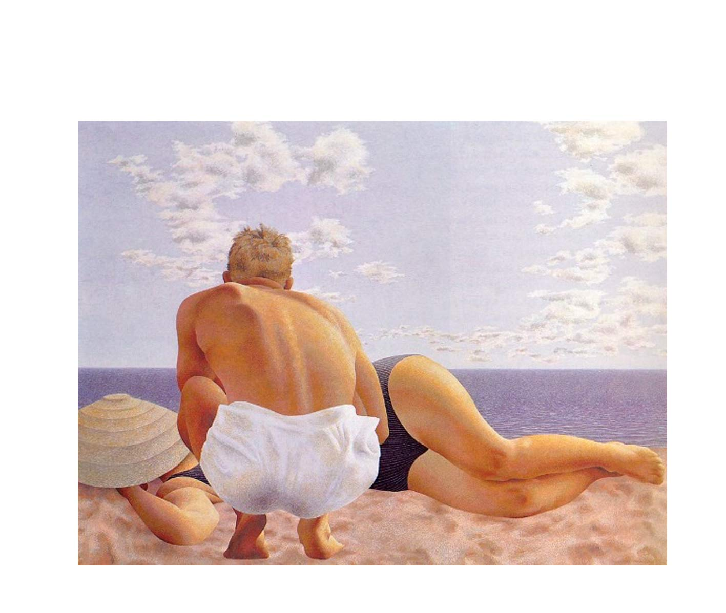 Alex Colville,  Couple on Beach