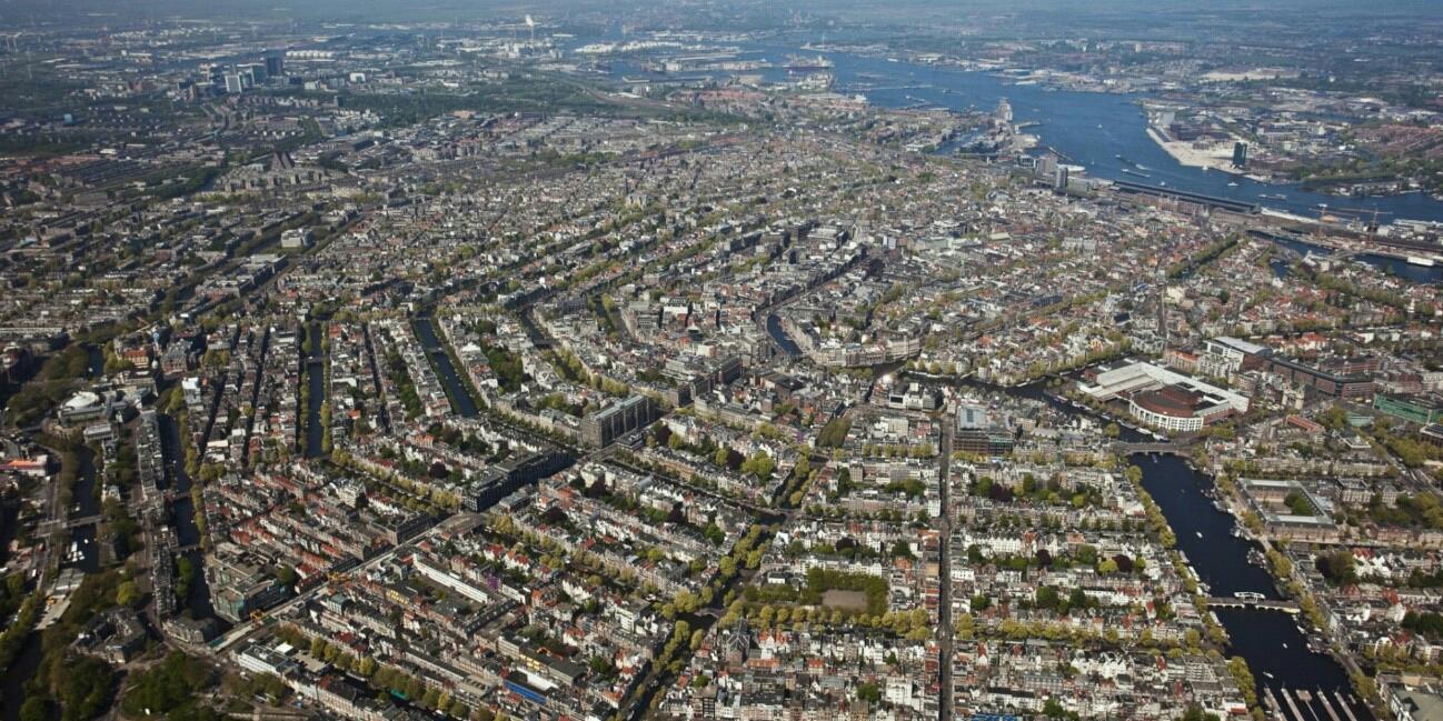 Amsterdam desde el cielo