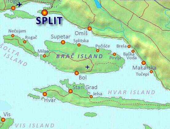 Brac Island en Croacia