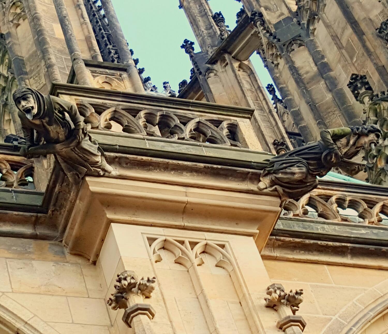 Gargolas en el Castillo de Praga