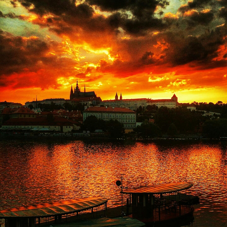 Atardecer en el Castillo de Praga