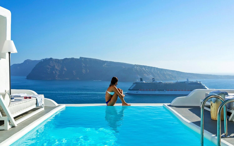 Hotel en la Oia, Santorini