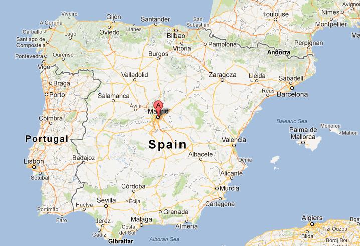 Ubicación de Madrid