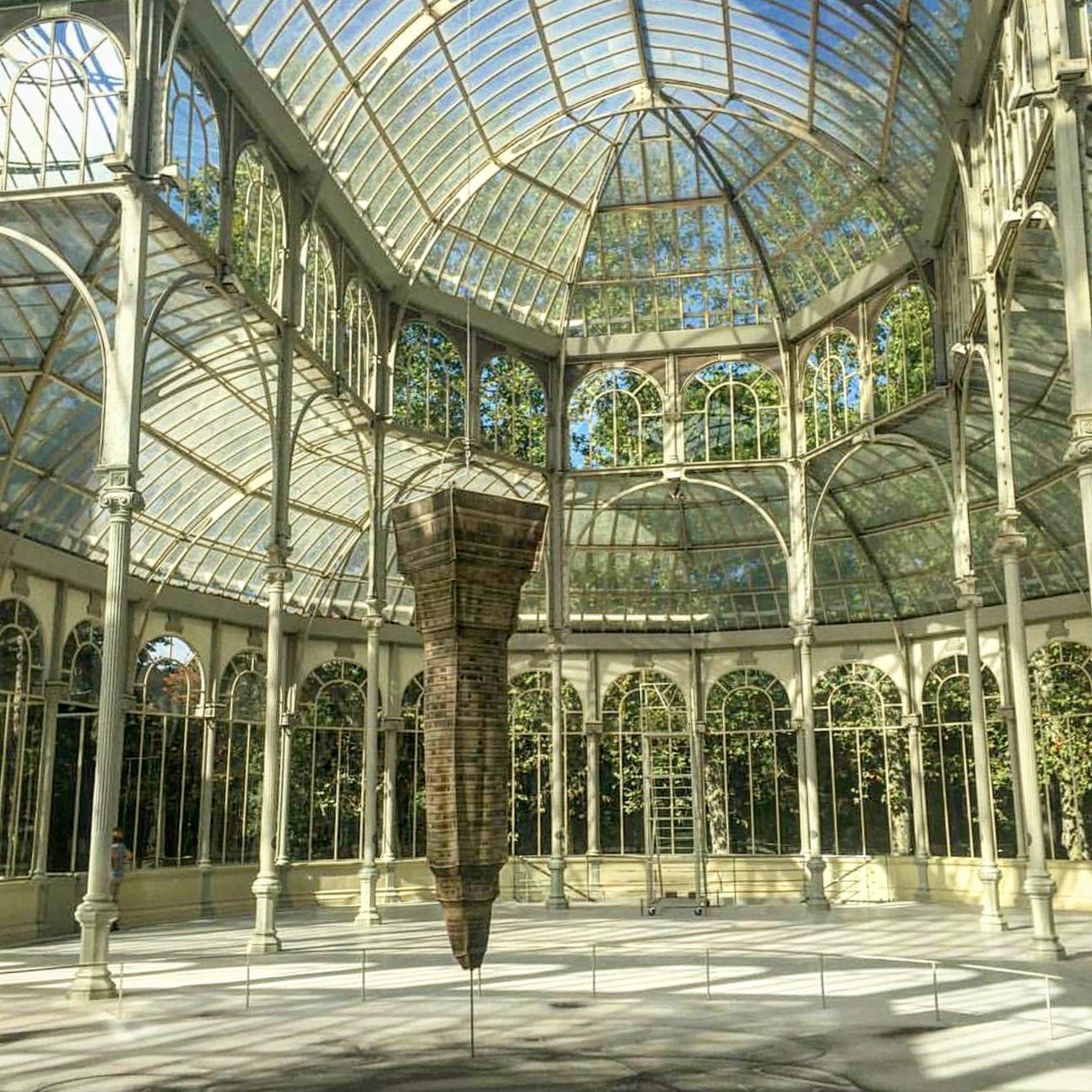 Palacio de Cristal dentro del Parque de El Retiro, Madrid