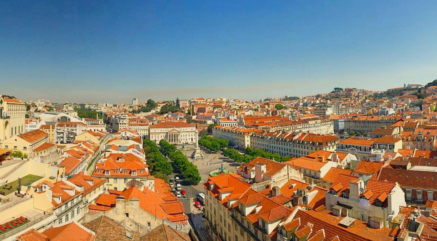 Vista desde el Elevador de Santa Justa, Lisboa