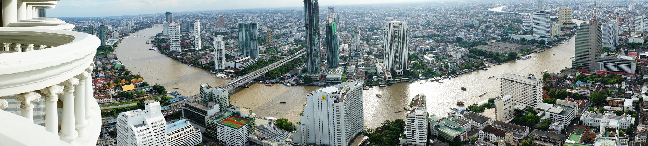 Bangkok desde el Sky Bar del Hotel Lebua
