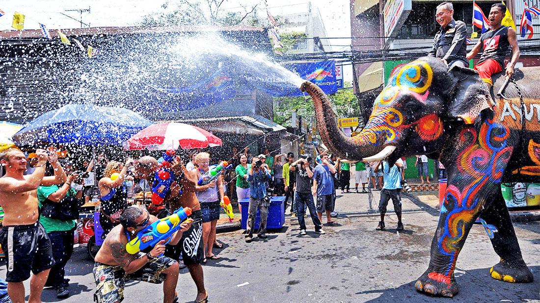 Songkran en Khao San Road