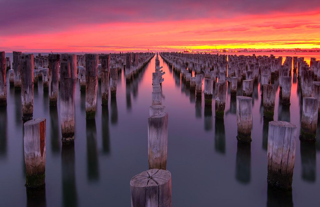 Atardecer en Princess Pier, Melbourne