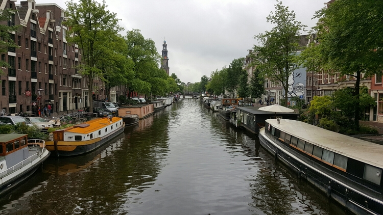 Boat Houses in Amsterdam Canals
