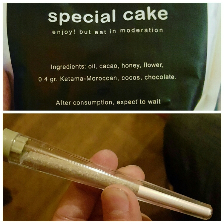 Products you can buy in a Coffee Shop: Space Cake, Marijuana Cigarette