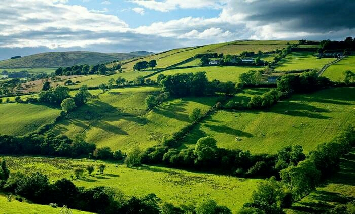 Ireland green hills