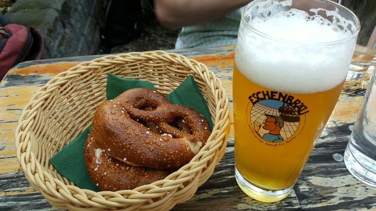 Pretzel and german beer