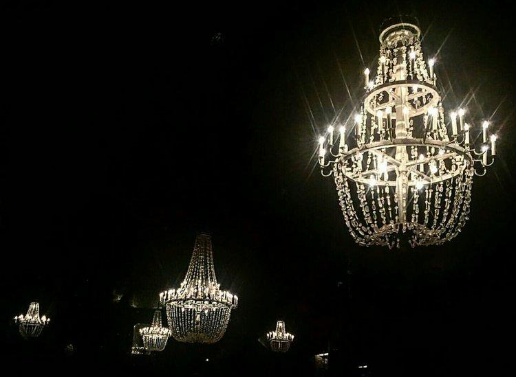 Salt chandeliers