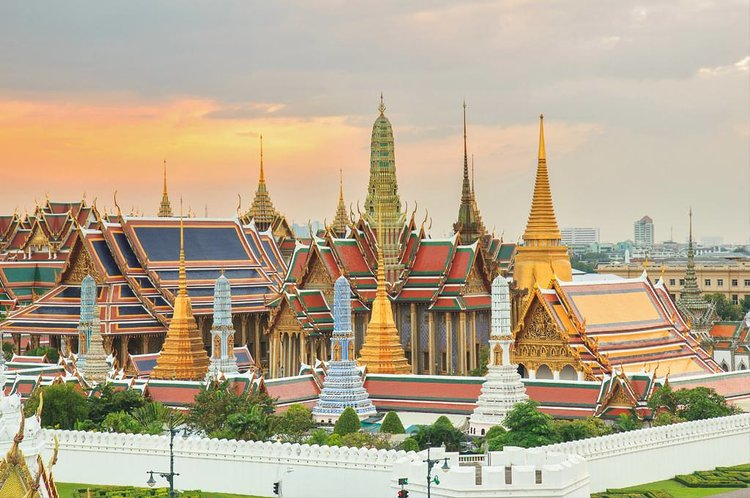 The Great Palace of Bangkok and the Temple of the Emerald Buddha