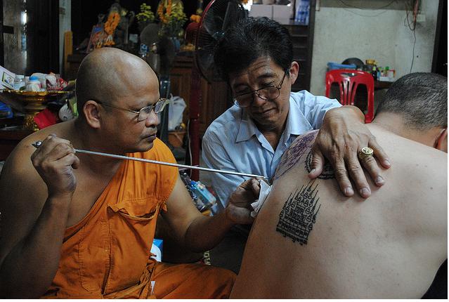 Sak Yant Tattoo, Bangkok