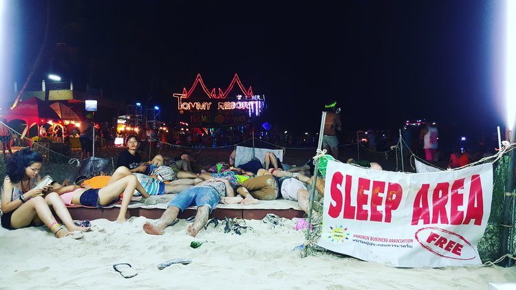 Sleeping Area at the Full Moon Party