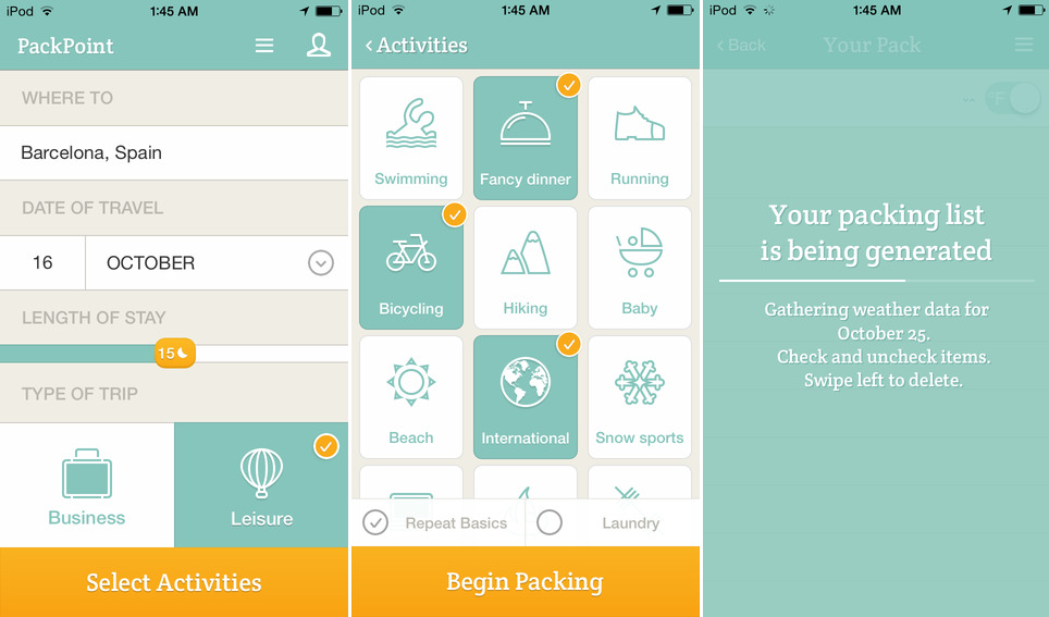 PackPoint Mobile App