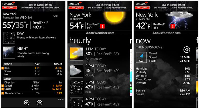 AccuWeather Mobile App