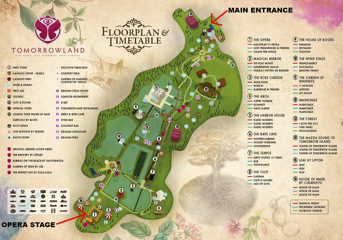 Tomorrowland Map 2016