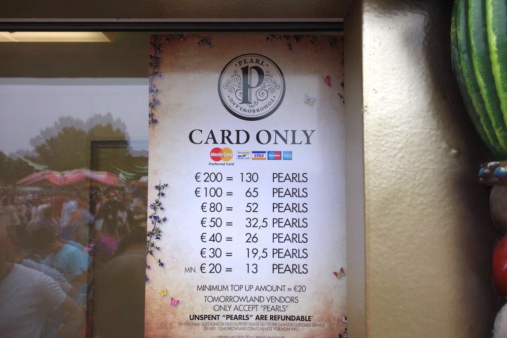 Costo de Perlas en Tomorrowland
