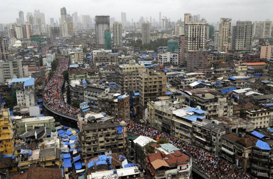 Protesta en Mumbai, India