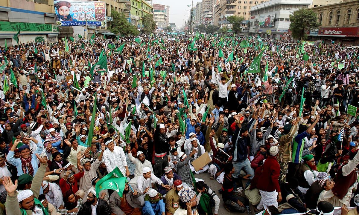 Protest in Karachi, Pakistan