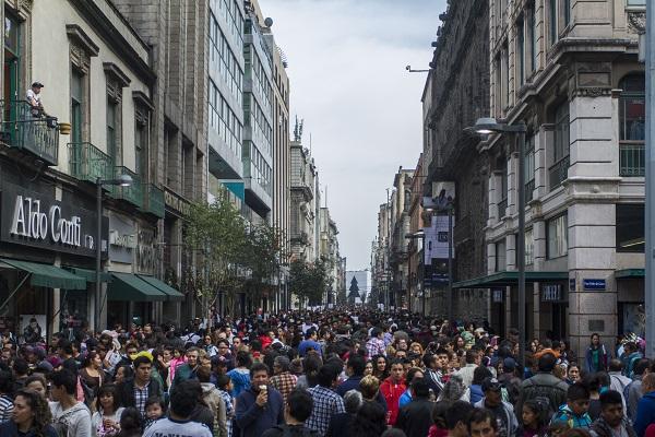 Calle Madero en la Ciudad de México