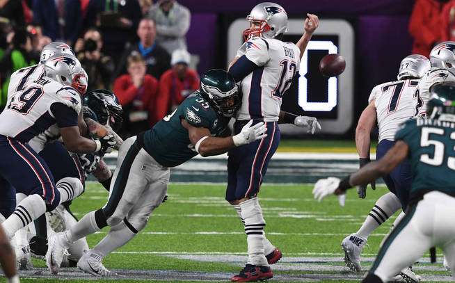 Tom Brady fumble by Graham in Superbowl LII
