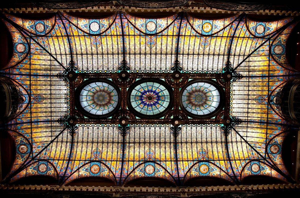 Jacques Grüber vitral en el Gran Hotel Ciudad de México