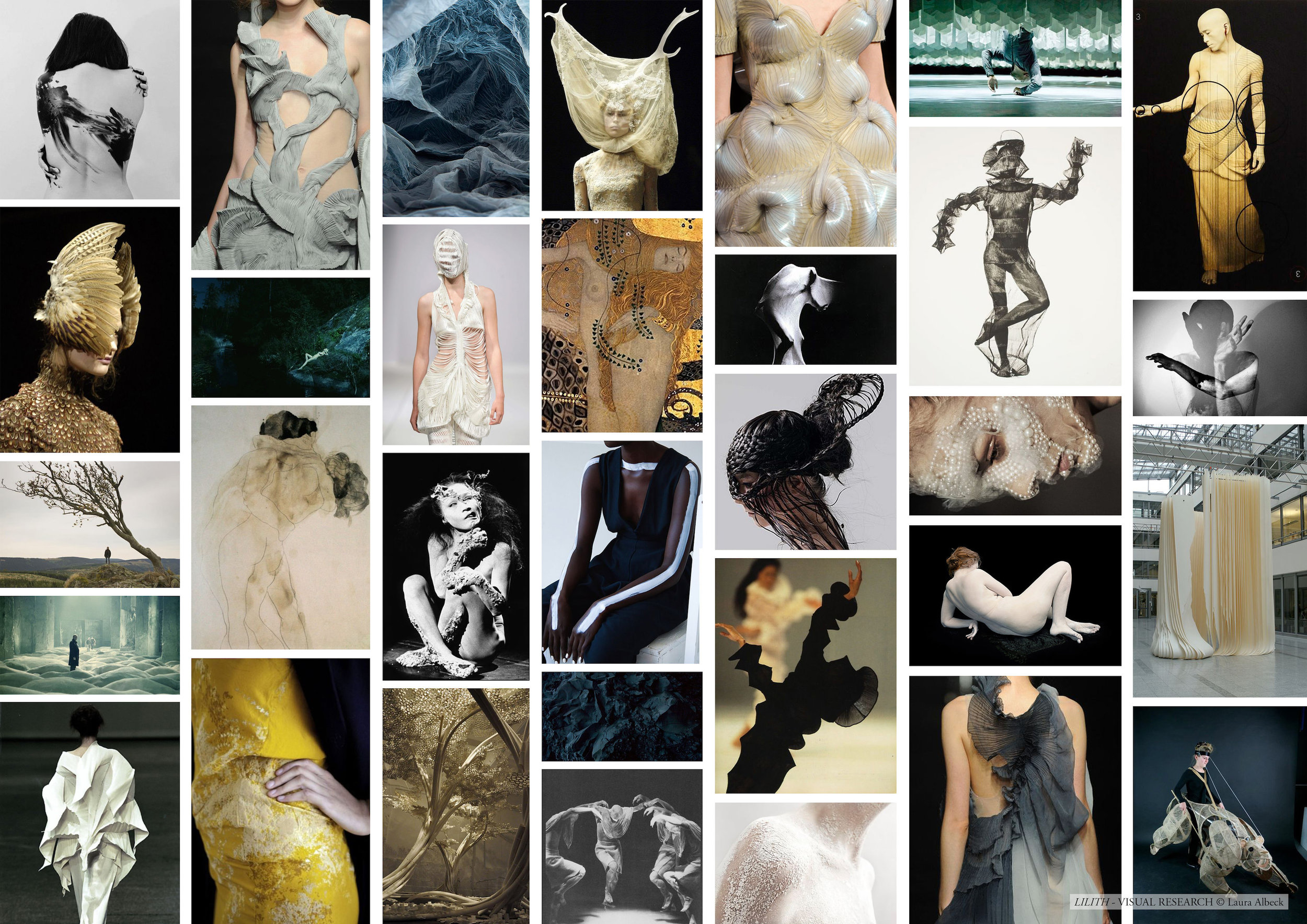 Early visual research for the entire production, various designers and artists