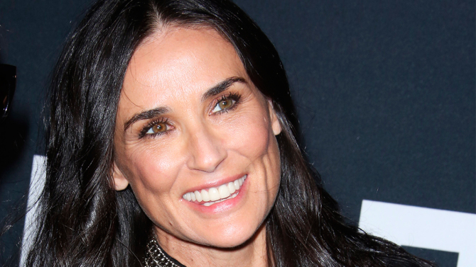 Demi Moore is an example of a celeb with a square shaped face